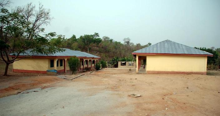 A photo shows The Hope Academy, a group of primary and secondary schools operated by US missionary, Reverend Phyllis Sortor, who was kidnapped by unknown gunmen in the village of Emiworo, Central Nigeria on February 24, 2015 (AFP Photo/)