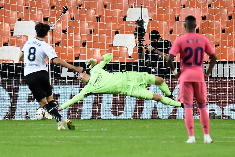 Valencia's Carlos Soler scored three penalties in a 4-1 win over Real Madrid on Sunday.