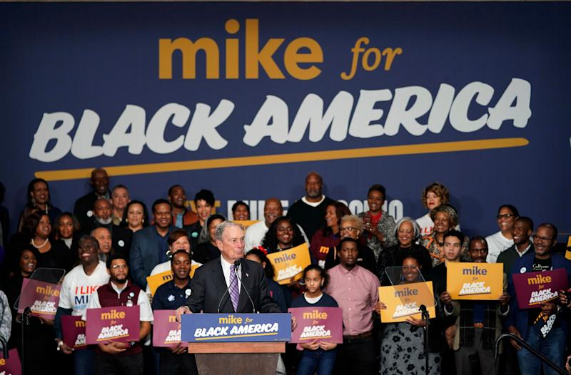 "Democratic presidential candidate and former New York City Mayor Michael Bloomberg speaks during his campaign launch of ""Mike for Black America,"" at the Buffalo Soldiers National Museum, Thursday, Feb. 13, 2020, in Houston. (AP Photo/David J. Phillip) (Photo: ASSOCIATED PRESS)"