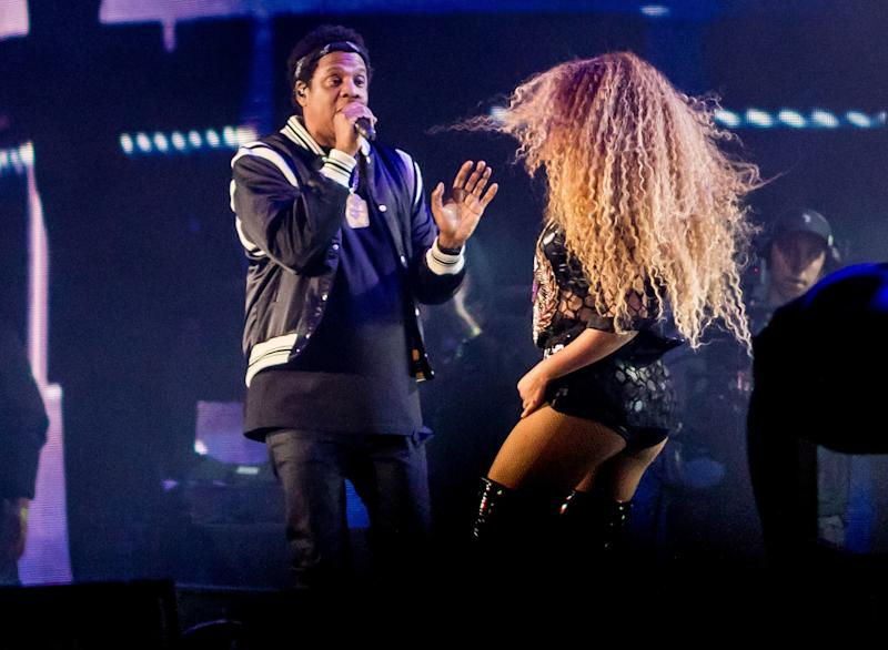 Beyoncé and husband Jay-Z take the stageCoachella Valley Music & Arts Festival. (KYLE GRILLOT via Getty Images)