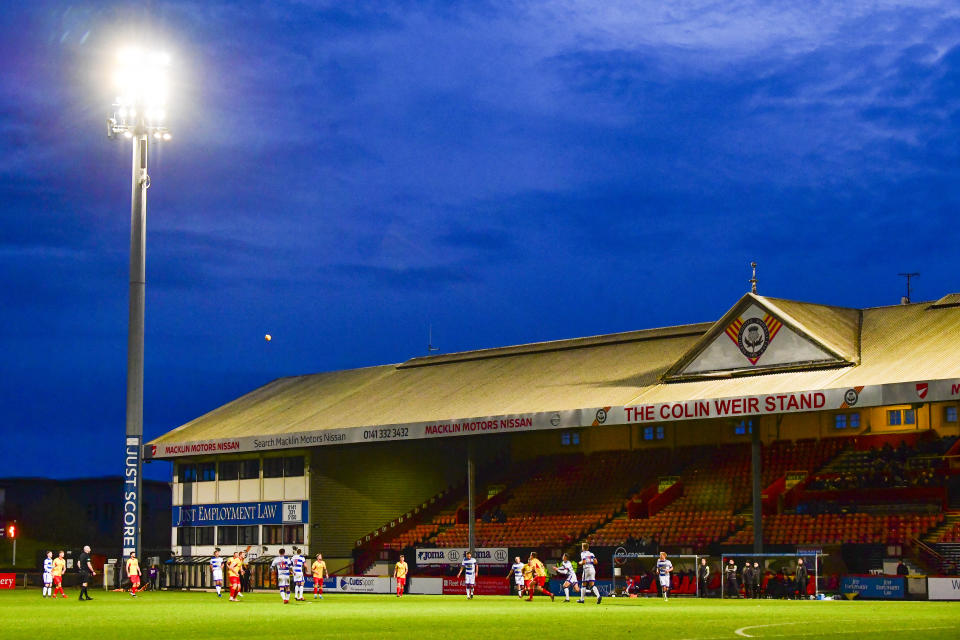 GLASGOW, SCOTLAND - NOVEMBER 09: Partick Thistle main stand during the Ladbrokes Championship match between Partick Thistle and Greenock Morton, at The Energy Check Stadium at The Energy Check Stadium at Firhill on November 09, 2019, in Glasgow, Scotland (Photo by Rob Casey / SNS Group via Getty Images)