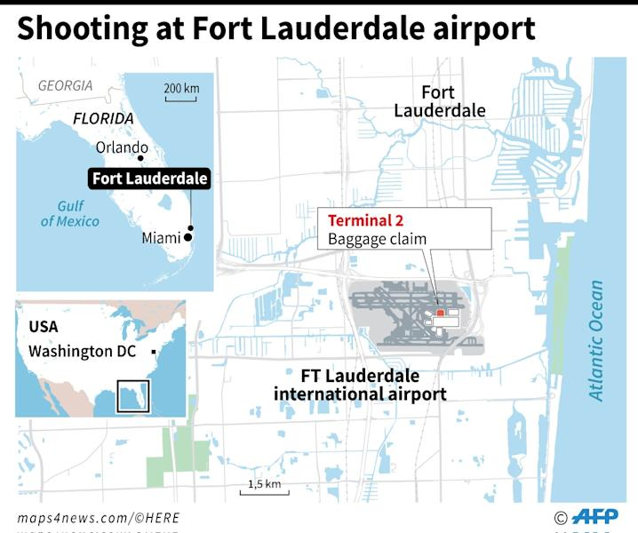 A gunman opened fire Friday at Fort Lauderdale-Hollywood airport in Florida, causing multiple fatalities (AFP Photo/Laurence SAUBADU)