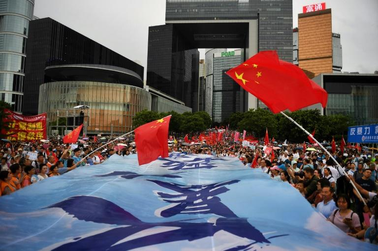 A rally by pro-government supporters in Hong Kong this weekend illustrated the polarisation coursing through the city
