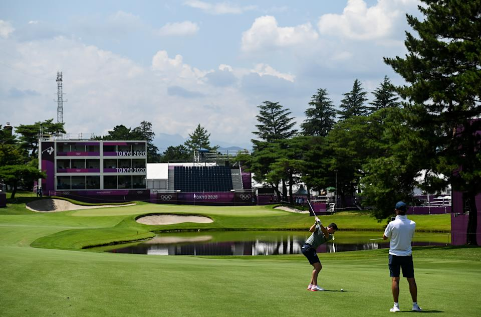 Rory McIlroy prepares for the Olympics at Kasumigaseki. (Photo By Ramsey Cardy/Sportsfile via Getty Images)