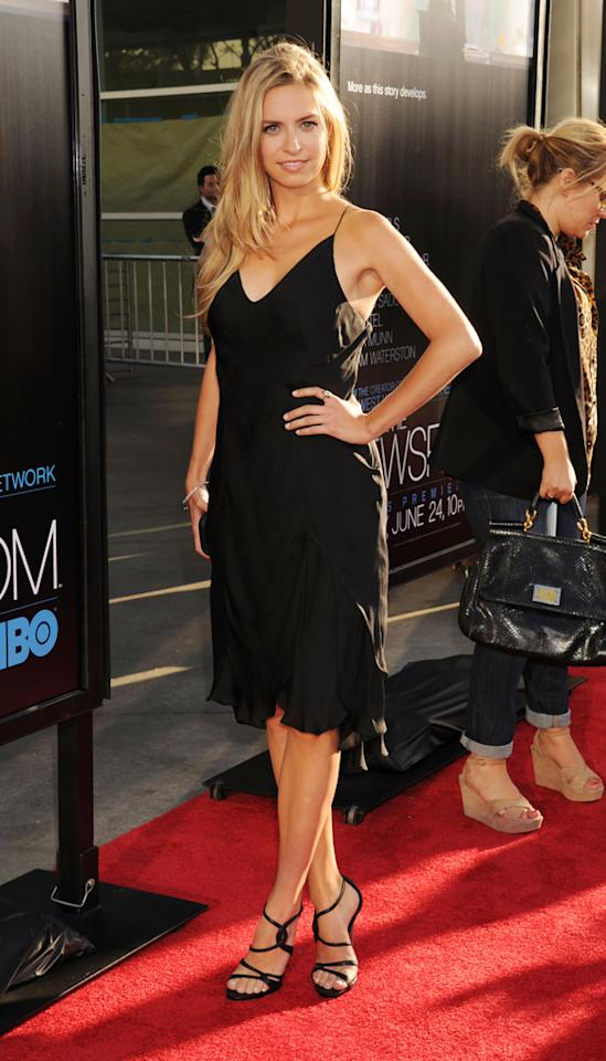 "Margaret Judson arrives at the Los Angeles premiere of HBO's ""The Newsroom"" at ArcLight Cinemas Cinerama Dome on June 20, 2012 in Hollywood, California."