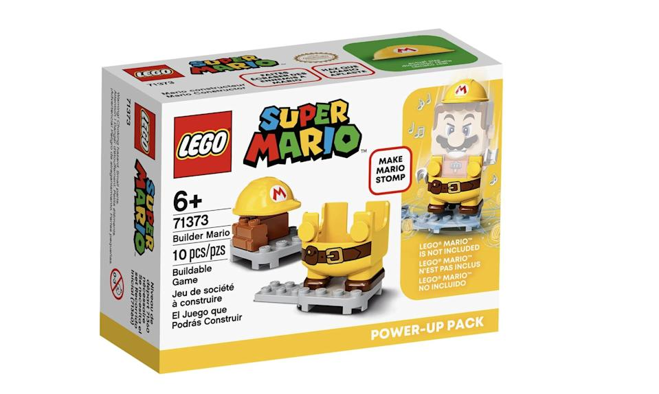 <p>The <span>Lego Super Mario Builder Mario Power-Up Pack</span> ($10, available Aug. 1) has 10 accessory pieces and is best suited for kids ages 6 and up. (It pairs with the Mario figure that comes in the <span>Lego Super Mario Adventures with Mario Starter Course</span>!)</p>