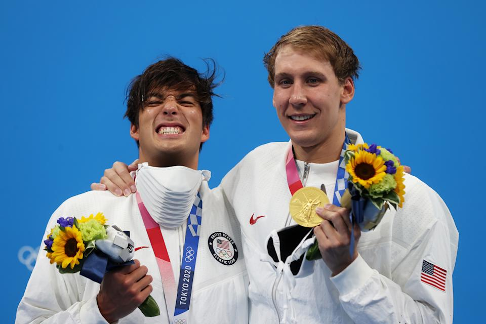 400 IM silver medalist Jay Litherland and gold medalist Chase Kalisz got Team USA on the board. (Clive Rose/Getty Images)
