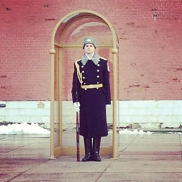 Standing guard at the Kremlin. (#NickInEurope)