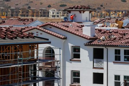 FILE PHOTO: Development and construction continues on a large scale housing project of over 600 homes in Oceanside, California