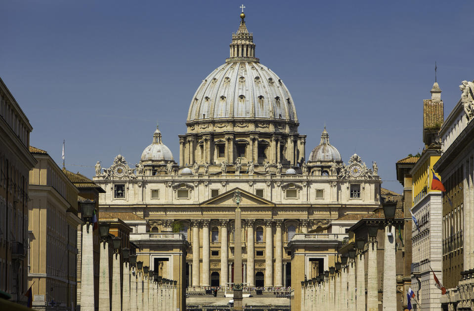The Vatican featuring St. Peter's Basilica, Rome, Italy