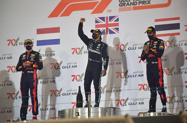 Lewis Hamilton won the Bahrain Grand Prix on Sunday