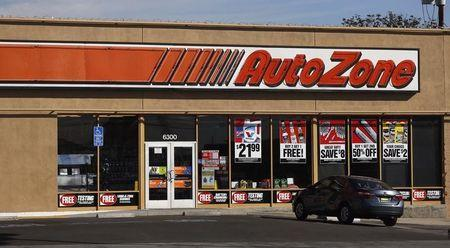The entrance to AutoZone store is pictured in Temple City