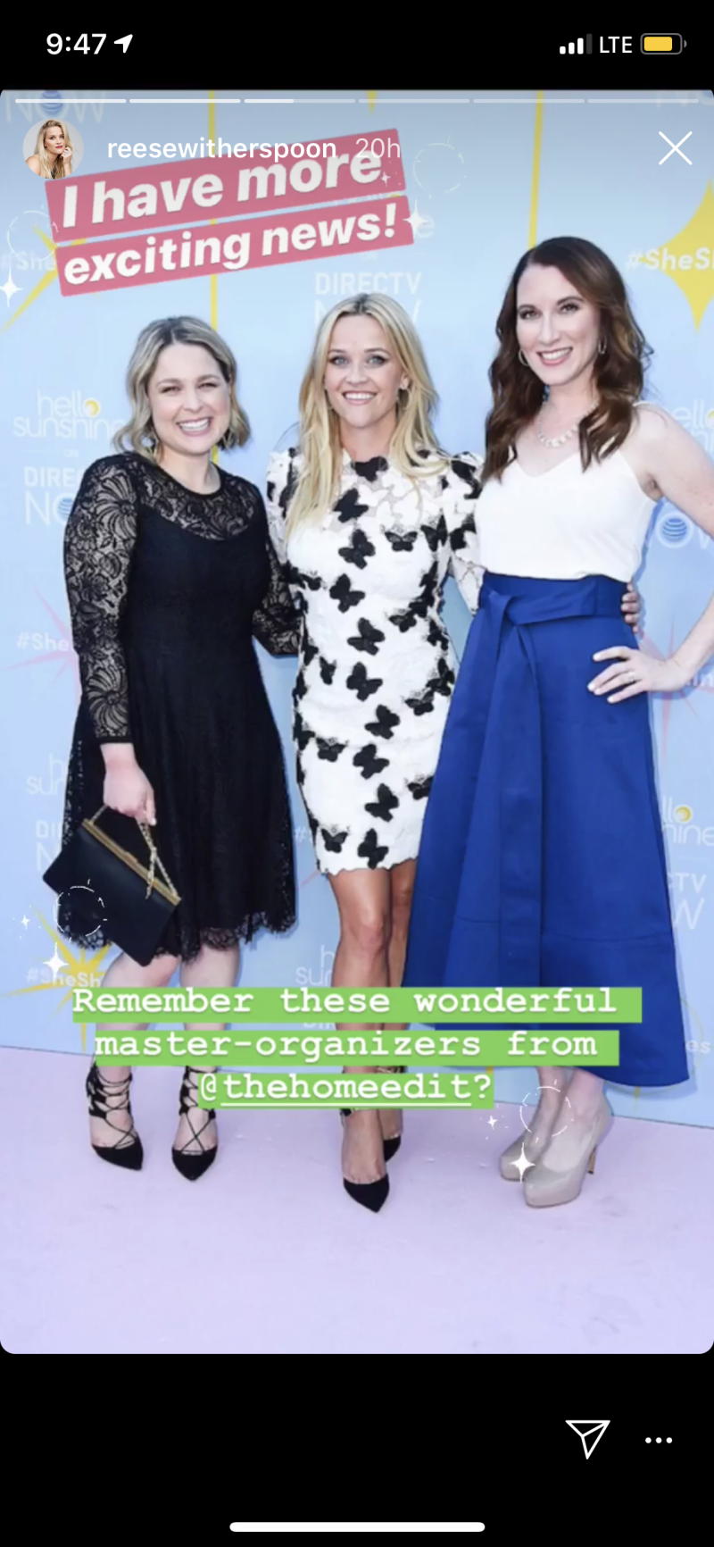 Reese Witherspoon, Clea Shearer, and Joanna Teplin