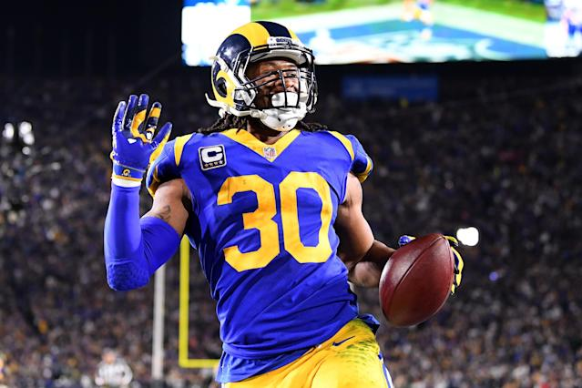 A highly touted Cowboys defense was no match for Todd Gurley and the Rams' ground attack. (Getty)