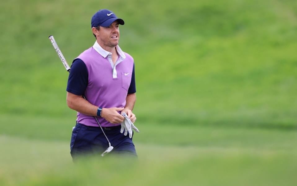 Rory McIlroy hRory McIlroy will go in search of major No.5 on Sunday at Torrey Pinesas made a good start to his round - GETTY IMAGES