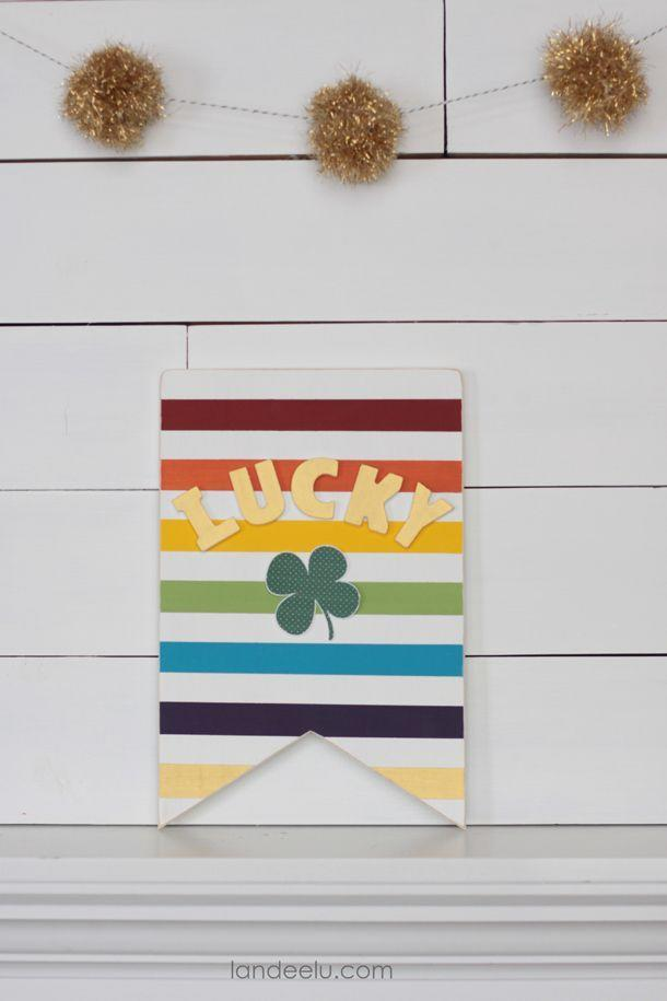 """<p>Hang this cheery rainbow sign in any room to prepare for an extra- lucky St. Patrick's Day.</p><p><strong>Get the tutorial at <a href=""""https://www.landeeseelandeedo.com/rainbow-gold-st-patricks-day-sign/"""" rel=""""nofollow noopener"""" target=""""_blank"""" data-ylk=""""slk:Landeelu"""" class=""""link rapid-noclick-resp"""">Landeelu</a>.</strong></p><p><strong><strong><a class=""""link rapid-noclick-resp"""" href=""""https://www.amazon.com/Adtech-Mini-Temp-Glue-Combo/dp/B00URCP4PC/?tag=syn-yahoo-20&ascsubtag=%5Bartid%7C10050.g.4036%5Bsrc%7Cyahoo-us"""" rel=""""nofollow noopener"""" target=""""_blank"""" data-ylk=""""slk:SHOP HOT GLUE GUNS"""">SHOP HOT GLUE GUNS</a></strong><br></strong></p>"""