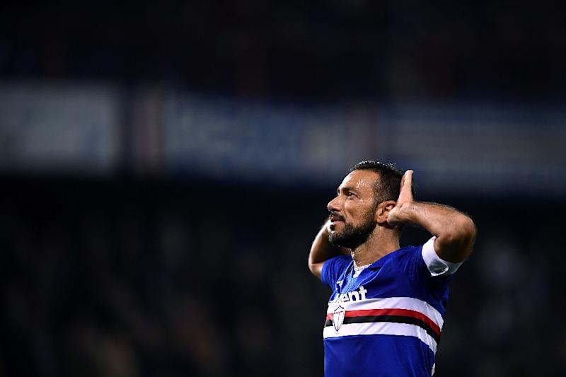 Fabio Quagliarella is having a breakout season at 36 years old (AFP Photo/MARCO BERTORELLO)