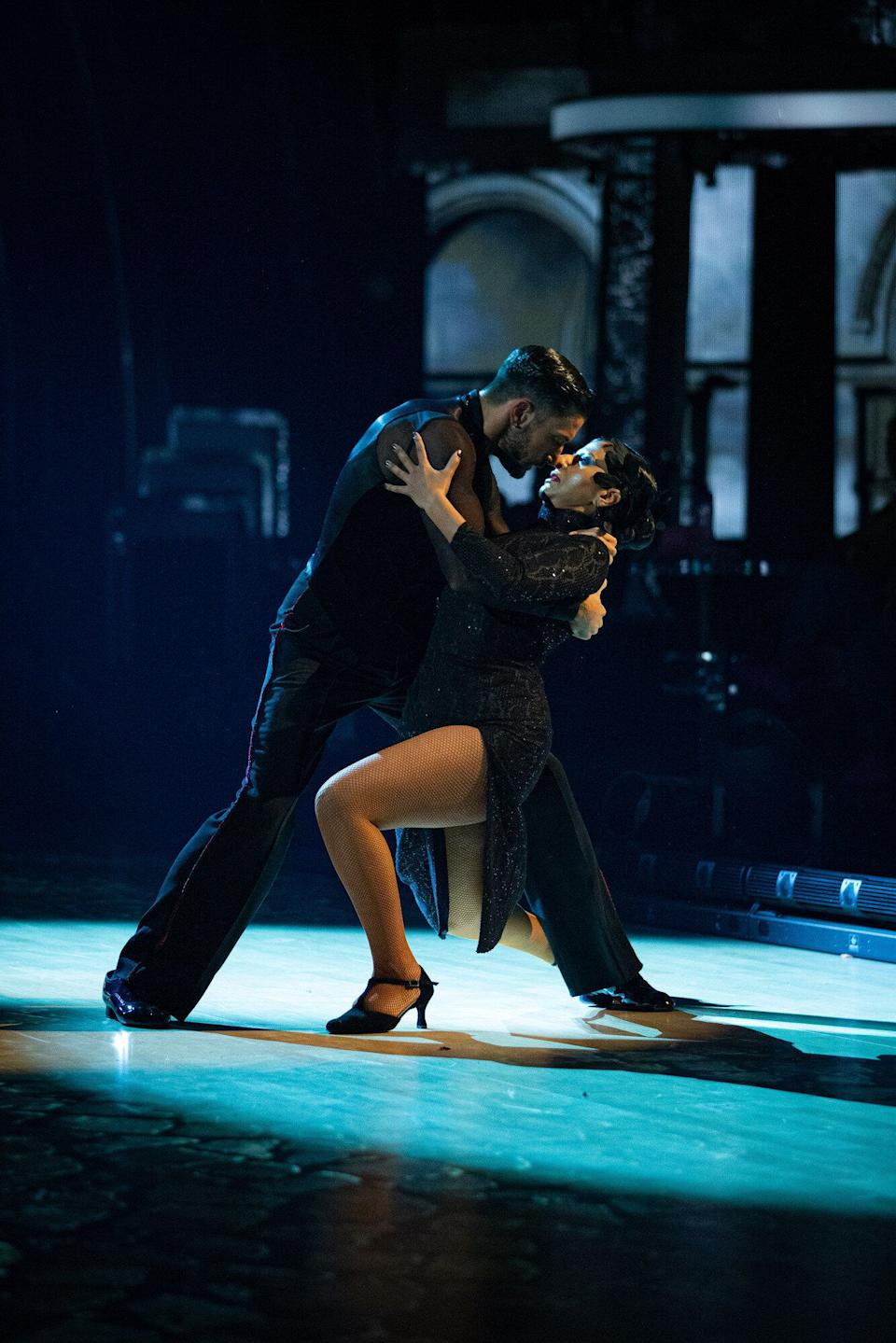 Ranvir Singh and Giovanni Pernice's Argentine Tango got everyone talking (Photo: BBC / Guy Levy)