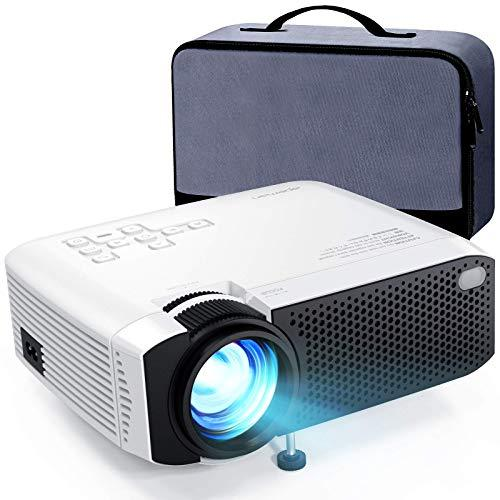 """Mini Projector, APEMAN 5000L Brightness 180"""" Display Projector [Carry Case Included], Support 1080P, 45,000 Hours LED Life, Compatible with TV Stick, TV Box, PS4, HDMI, VGA, TF, AV, USB for Home Movie (Amazon / Amazon)"""