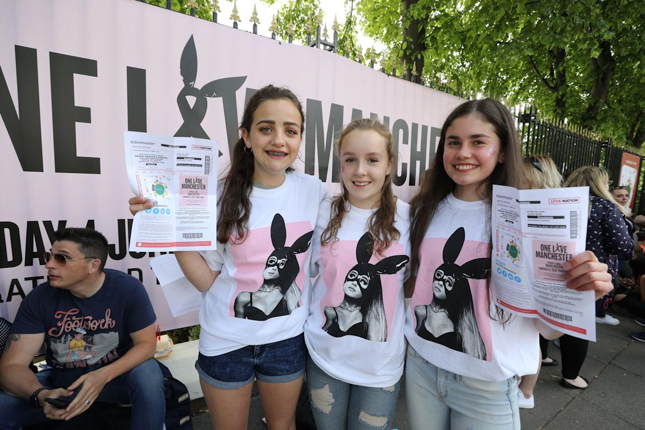 <p>Ariana Grande's tribute concert for the Manchester terror attack victims took place on Sunday night in Old Trafford. (PA) </p>