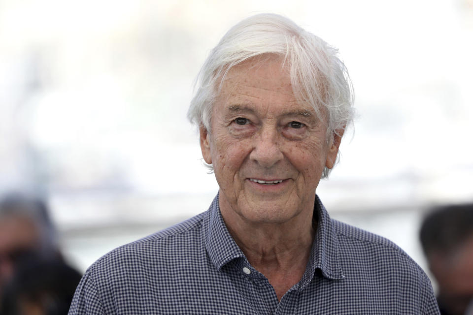 Director Paul Verhoeven poses for photographers at the photo call for the film 'Benedetta' at the 74th international film festival, Cannes, southern France, Saturday, July 10, 2021. (Photo by Vianney Le Caer/Invision/AP)