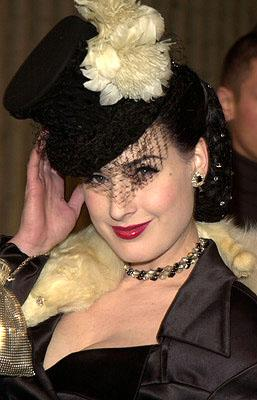 """Premiere: <a href=""""/movie/contributor/1800405970"""">Dita Von Teese</a> at the Westwood premiere of Columbia's <a href=""""/movie/1807455542/info"""">Not Another Teen Movie</a> - 12/7/2001<br><font size=""""-1"""">Photo: <a href=""""http://www.wireimage.com"""">Jean-Paul Aussenard/Wireimage.com</a></font>"""