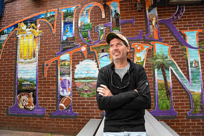 Cameron Farish, co-owner of Tiger Town Tavern in Clemson.