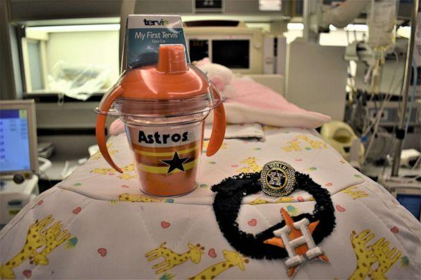 PHOTO: This 1-pound baby is the Houston Astros tiniest fan. (The Woman's Hospital of Texas)
