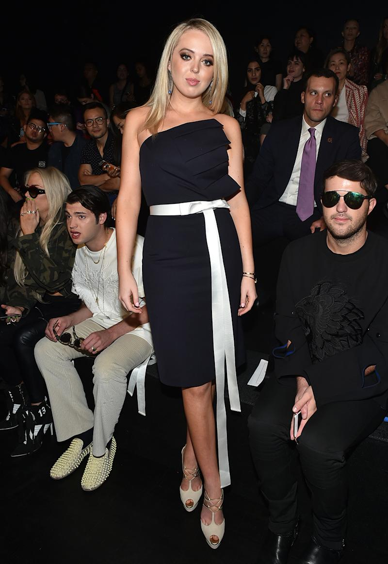 Tiffany Trump attends the Taoray Wang show at New York Fashion Week on Sept. 9.