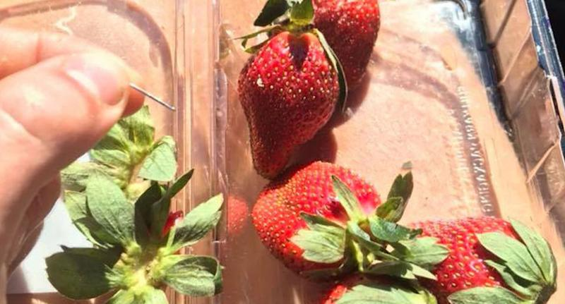 At least four punnets of strawberries have now been found contaminated with sewing needles in fruit bought at Woolworths