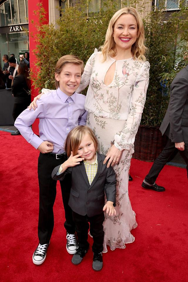 <p>Actress Kate Hudson had her first son Ryder Robinson at the age of 24. (Photo by Todd Williamson/Getty Images) </p>