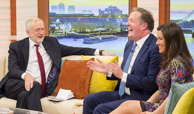 Corbyn appeared on Good Morning Britain hours before May called a snap election.