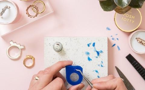 Personalised Ring Making Workshop with Prosecco for Two at Posh Totty Designs - Credit: Virgin Experience Days