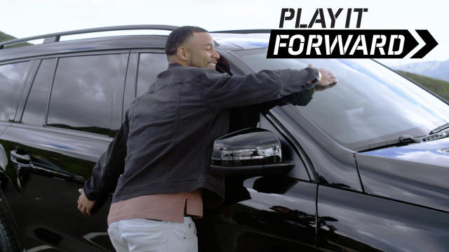 Golden Tate gets schooled by Wei Wang, Olympic Table Tennis player. Watch as he picks up his custom, all blacked out, 2019 Mercedes GLS 450 for his wife.