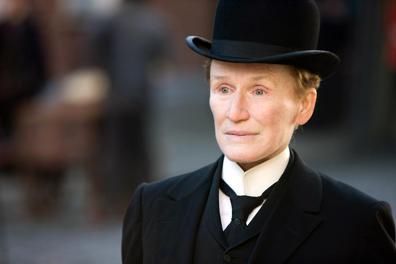 "Glenn Close, just give up. The 2011 movie ""Albert Nobbs"" had long been Close's pet project, but she may not have been so fond of it the day she had to audition in 1982 for the stage role as the female disguised as a male butler. Never a fan of tryouts, she stopped herself during the audition and declared to the producers, ""I'm boring myself, so I must be boring you. I think I'm going to go home."" The rare act of self-realization impressed them enough to bring her back the next day and cast her. For her work in the movie, Close received her sixth Oscar nomination, tying her with Deborah Kerr and Thelma Ritter as most-nominated actress never to win."