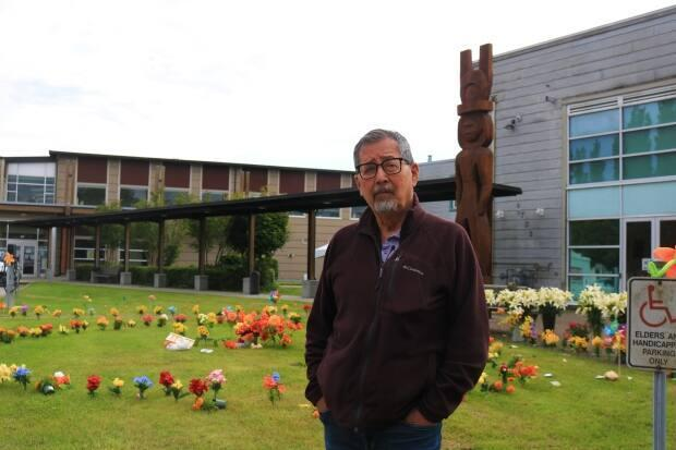 Howard Grant, pictured in front of the Musqueam band office on Monday, wants  the Musqueam people and Richmond to forge a better relationship. (Jon Hernandez/CBC - image credit)