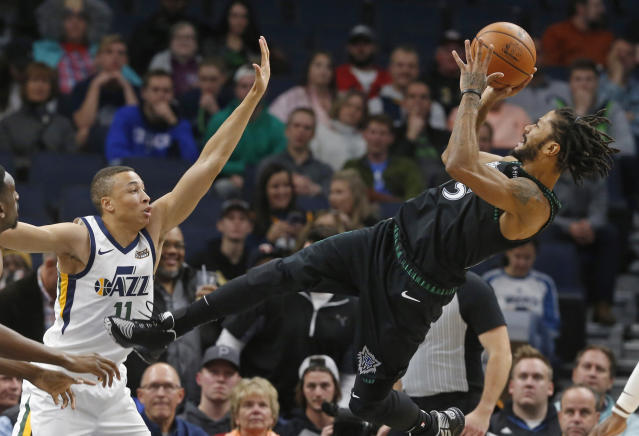 Derrick Rose turned back the clock Wednesday to drop a career high 50 points to lead Minnesota past Utah. (AP)