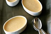 "These individual custard cups are the perfect pumpkin treat for when you need a pumpkin fix, but don't want something too sweet. Serve this easy fall dessert after a dinner of roast pork tenderloin. <a href=""https://www.epicurious.com/recipes/food/views/maple-pumpkin-pots-de-creme-107388?mbid=synd_yahoo_rss"" rel=""nofollow noopener"" target=""_blank"" data-ylk=""slk:See recipe."" class=""link rapid-noclick-resp"">See recipe.</a>"