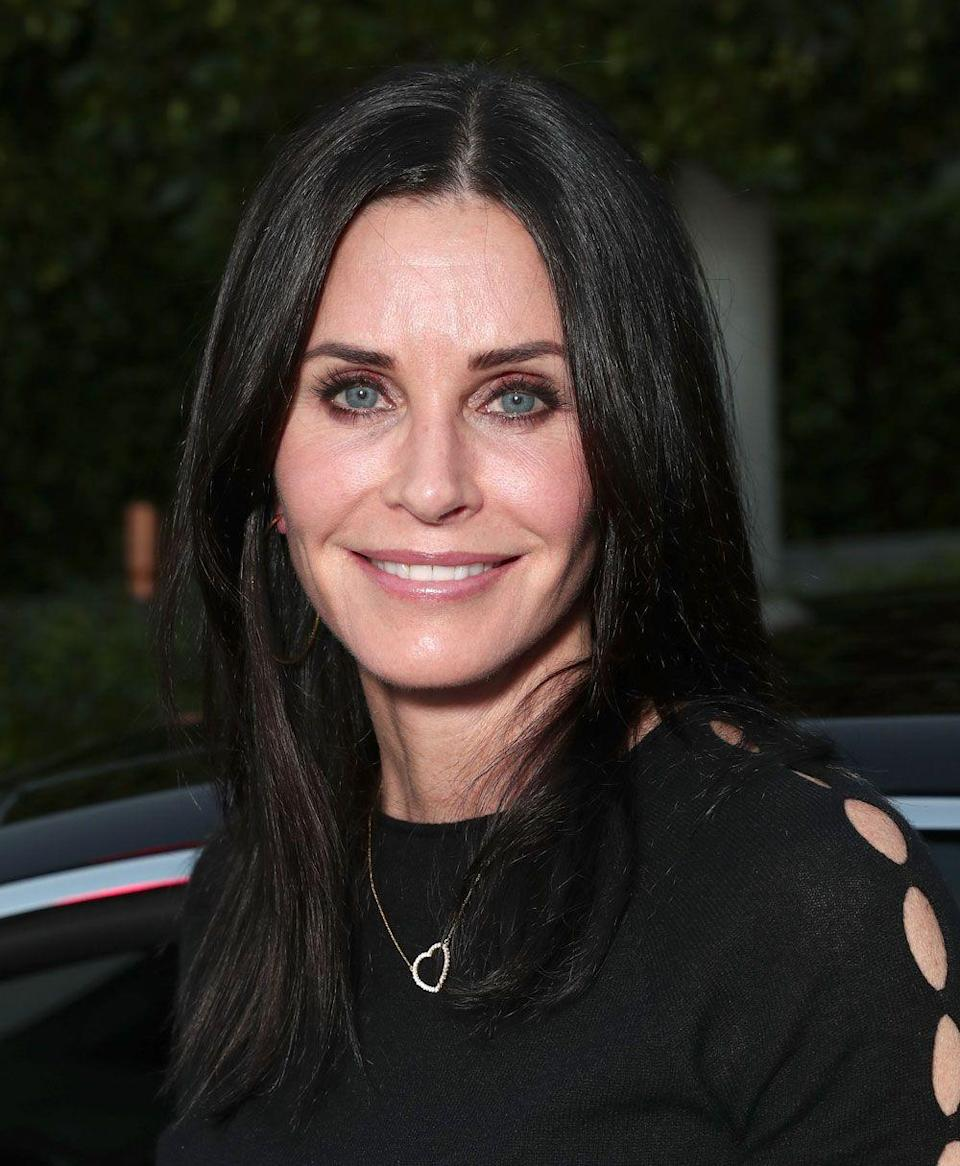 """<p>""""I've had all my fillers dissolved. I'm as natural as I can be. I feel better because I look like myself,"""" Cox told <em><a href=""""https://www.newbeauty.com/blog/dailybeauty/11013-courteney-cox-beauty/"""" rel=""""nofollow noopener"""" target=""""_blank"""" data-ylk=""""slk:New Beauty"""" class=""""link rapid-noclick-resp"""">New Beauty</a></em> in June 2017. """"I think that I now look more like the person that I was. I hope I do. Things are going to change. Everything's going to drop. I was trying to make it not drop, but that made me <span class=""""redactor-unlink"""">look fake</span>. You need movement in your face, especially if you have thin skin like I do. Those aren't wrinkles—they're smile lines. I've had to learn to embrace movement and realize that fillers are not my friend.""""</p>"""