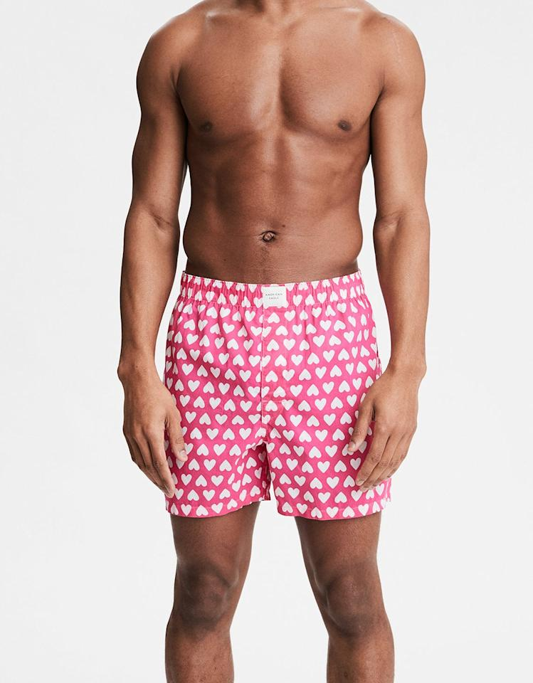 """<p>Give your guy some love with the help of these <a rel=""""nofollow"""" href=""""https://www.popsugar.com/buy/Shuffle%20Hearts%20Classic%20Boxers-411723?p_name=Shuffle%20Hearts%20Classic%20Boxers&retailer=ae.com&price=13&evar1=tres%3Auk&evar9=45765406&evar98=https%3A%2F%2Fwww.popsugar.com%2Flove%2Fphoto-gallery%2F45765406%2Fimage%2F45765705%2FShuffle-Hearts-Classic-Boxers&list1=shopping%2Chumor%2Cmen%2Cgift%20guide%2Cunderwear%2Cvalentines%20day%2Cgifts%20for%20men&prop13=api&pdata=1"""" rel=""""nofollow"""">Shuffle Hearts Classic Boxers</a> ($13).</p>"""