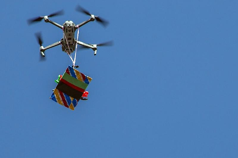 Drones may not always be delivering gifts (AFP Photo/AMOS GUMULIRA)