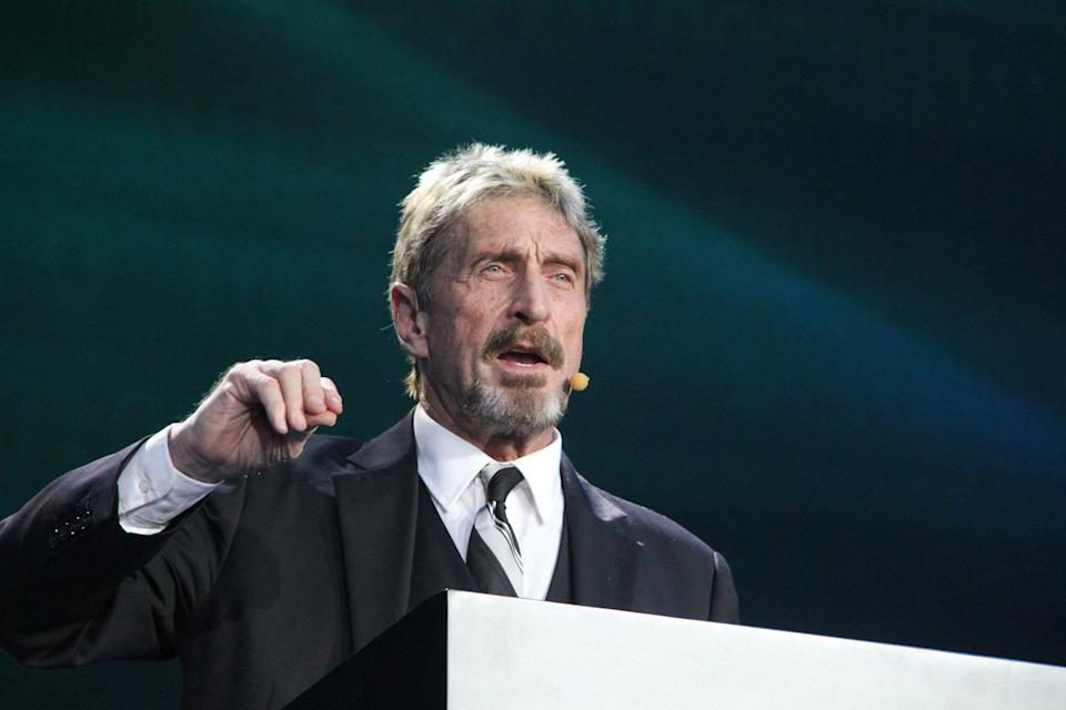 John McAfee.  (Foto: Getty Images/Visual China Group tramite Getty Images)