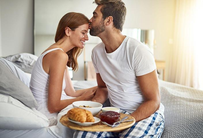 """<p>""""My boyfriend is an amazing cook and he always takes the time to make me dinner after a long day at work. He'll even bring me breakfast in bed on a lazy Sunday morning. It's a small thing that truly makes me feel loved."""" –<em>Alisa</em></p>"""