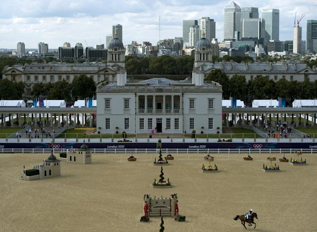 The Equestrian venue in Greenwich Park in 2012.