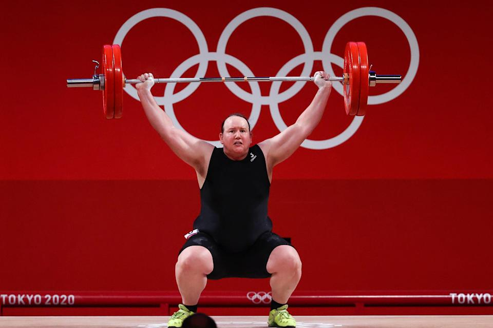 Laurel Hubbard failed to secure a successful snatch lift (Reuters)