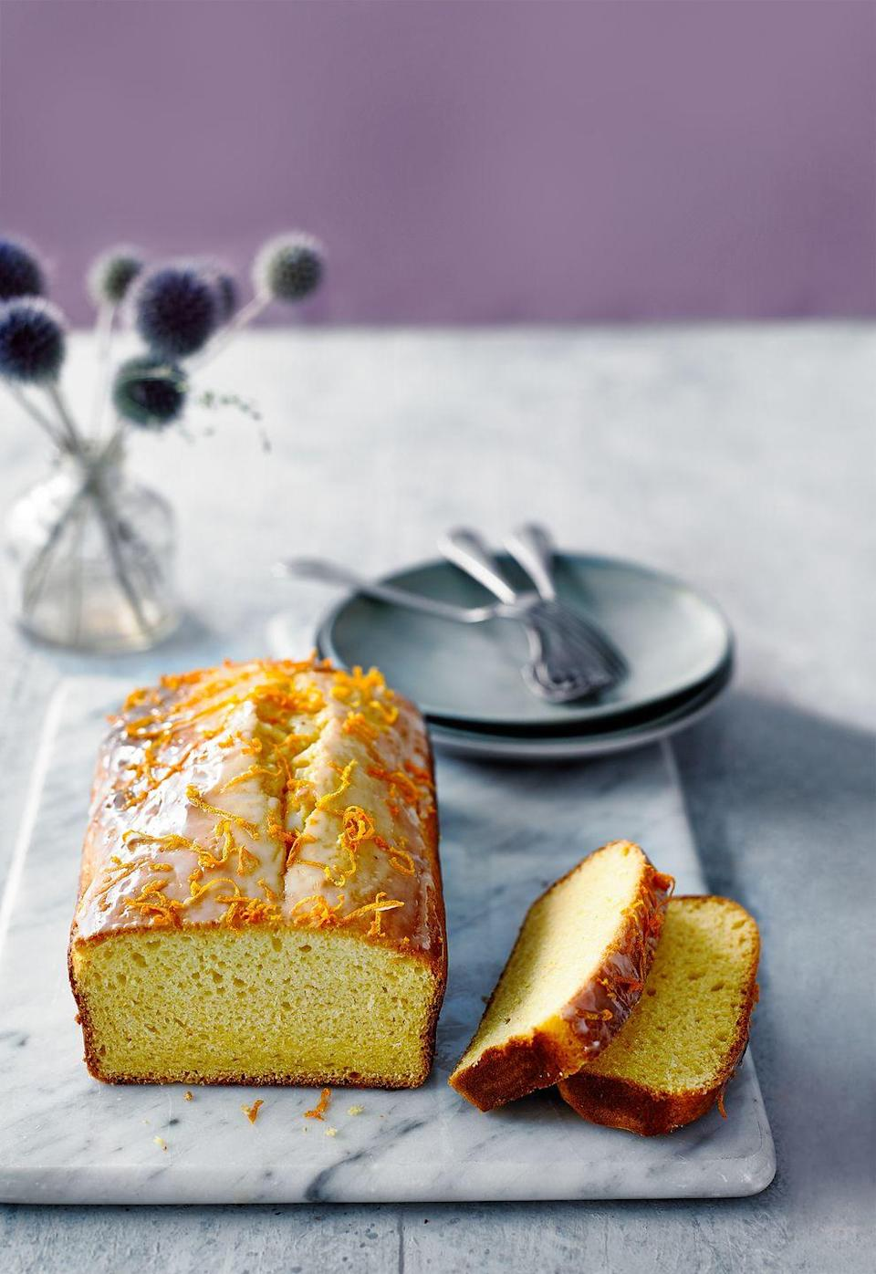 """<p>This cake recipe only needs three ingredients and it's also egg-free.</p><p><strong>Recipe: <a href=""""https://www.goodhousekeeping.com/uk/food/recipes/a26943247/orange-loaf-cake/"""" rel=""""nofollow noopener"""" target=""""_blank"""" data-ylk=""""slk:Three-ingredient Orange Loaf Cake"""" class=""""link rapid-noclick-resp"""">Three-ingredient Orange Loaf Cake</a></strong></p>"""
