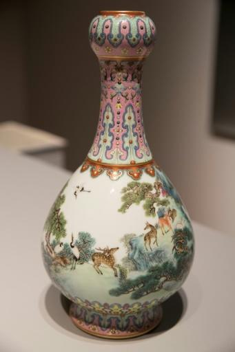 The vase was found by chance among dozens of other pieces of Chinoiserie in the attic of a house in France