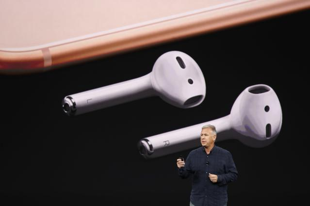 <p>Like the iPhone 7, the iPhone 8 and 8 Plus use wireless EarPod headphones. REUTERS/Stephen Lam </p>