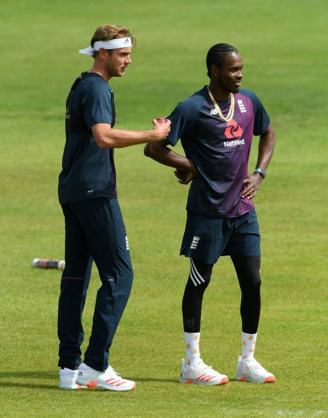 Broad (left) has been shocked by some of the abuse received by team-mate Jofra Archer (Stu Forster/Pool)