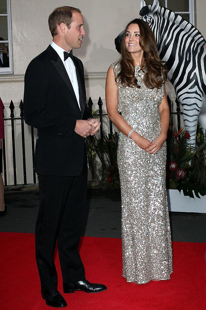 Kate Middleton in one of her many Jenny Packham looks at the Tusk Conservation awards in 2013. (Photo: Getty Images)